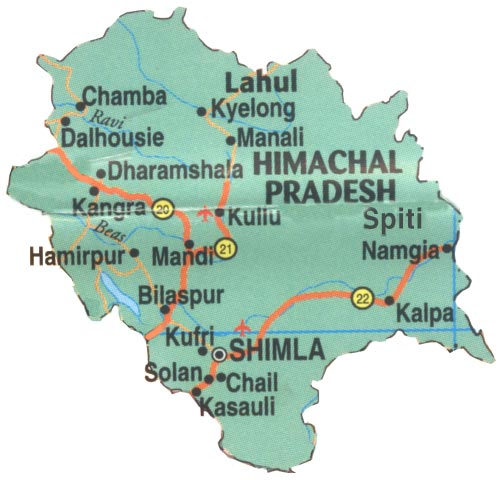 Places To Visit In Solan Himachal: Map Of Himachal Pradesh